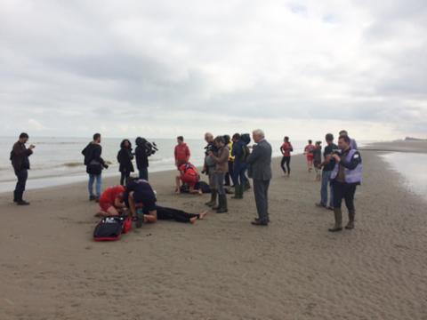 Rescue exercise De Haan 4 juli 16