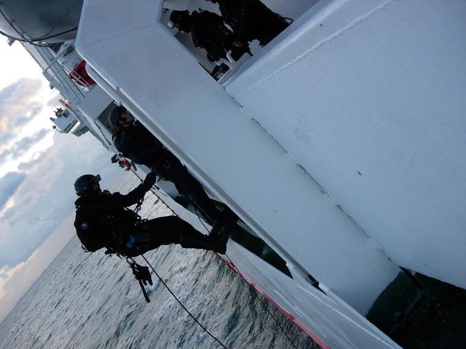 Scheepvaartpolitie oefenoperatie
