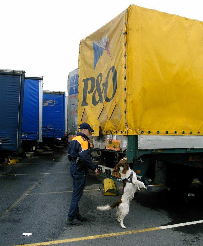 Scheepvaartpolitie controle container